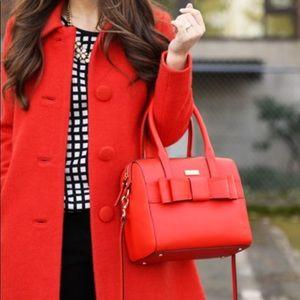 Kate Spade Alice court kaiya red bow bag